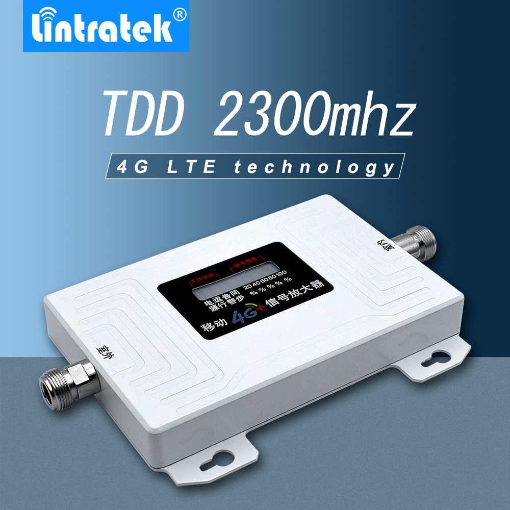 Lintratek TDD 2300mhz Smart Signal Repeater BAND 40 4G LTE 2300mhz-2400mhz Mobile Cell Phone Signal Booster Amplifier  -