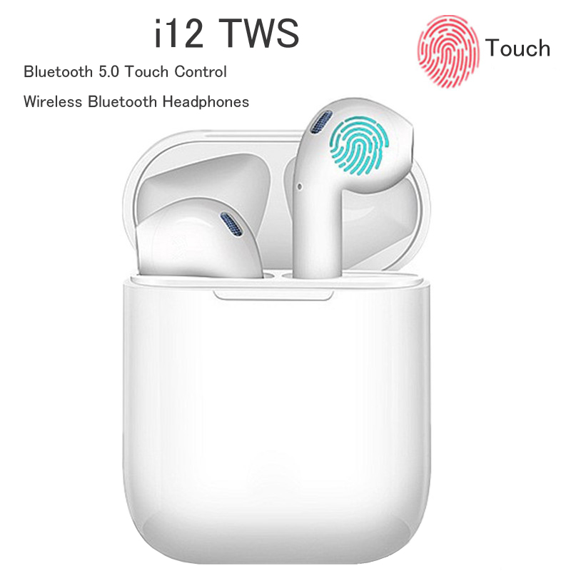 <font><b>I12</b></font> <font><b>TWS</b></font> Wireless Headset <font><b>Bluetooth</b></font> Earphone Sport <font><b>5.0</b></font> Stereo Wireless <font><b>Earbud</b></font> for Apple IPhone Xiaomi Huawei Samsung Headphones image