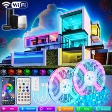 5M-30M WIFI LED Strip Lights Bluetooth RGB Led light 5050 SMD 2835 Flexible Waterproof Tape Diode Alexa Phone Control DC Adapter