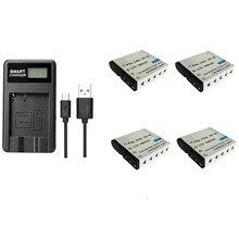 Batteria di NP 40 4 pcs 1500 mAh con il singolo caricabatteria per le macchine fotografiche di Casio 55 57 Z100 Z300 Z400 Z450 FC100