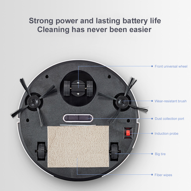 2021 Upgrade Smart Robot Vacuum Cleaner 1800Pa App Remote Control Vacuum Cleaner Home Multifunctional Wireless Sweeping Robot 4