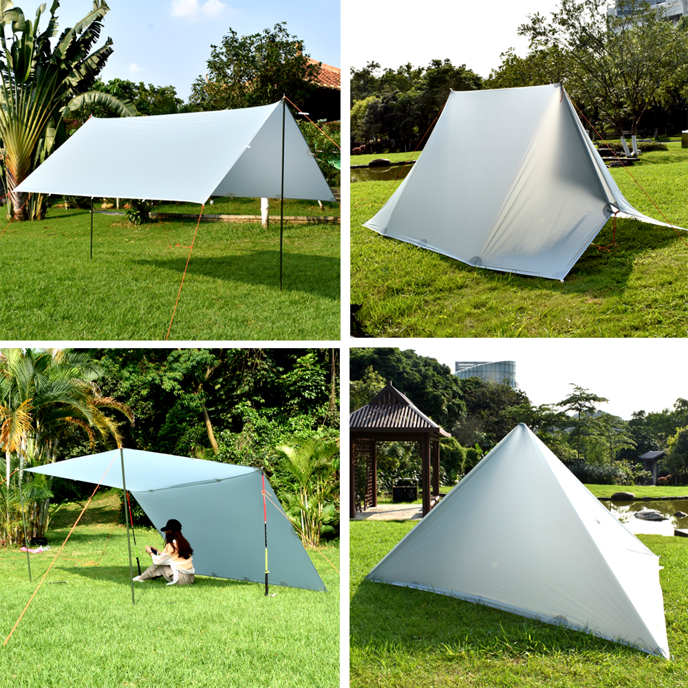 3F Ul Gear 15D Silicone Ultralight Outdoor Backpacking Hiking 4m x 3m Large Tarp