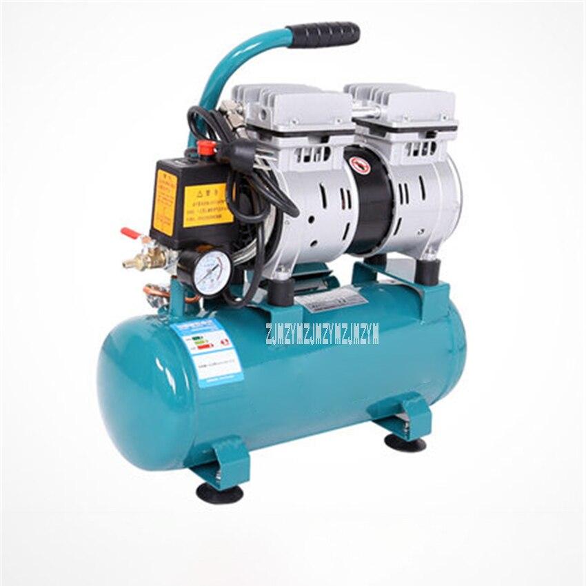 550 9L Mute Air Compressor High Pressure Pump Small Portable Oil Free Air Compressor 550W Woodworking Copper Air Compressor 220V|Power Tool Sets| |  - title=