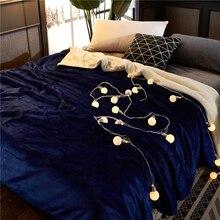 Зимний плотный флисовый пододеяльник супер мягкий теплый плед покрывало домашний декор диван кровать одеяло s покрывало постельное белье