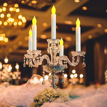 12PCS Flameless LED Taper Candles Lights Long LED Candle For Home Party Wedding Birthdat Christmas Holiday Church Decoration D30 led candles remote control electronic flameless breathing candle lights wedding party christmas decoration