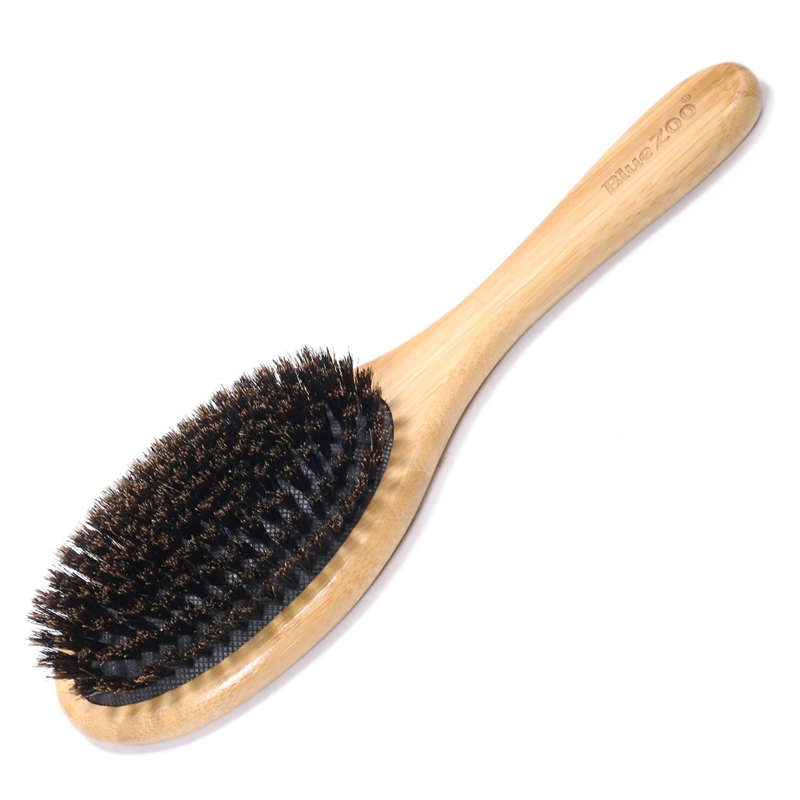 Bluezoo Wood Hair Comb Mini Portable Beech Hairbrush Hog Balloon Hair Brush