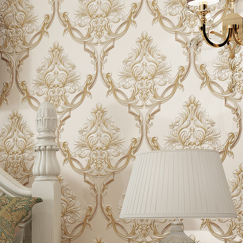 New Products European Style Stereo Luxury Non-woven Wallpaper Villa Model Room Living Room Bedroom Clothing Store Wallpaper