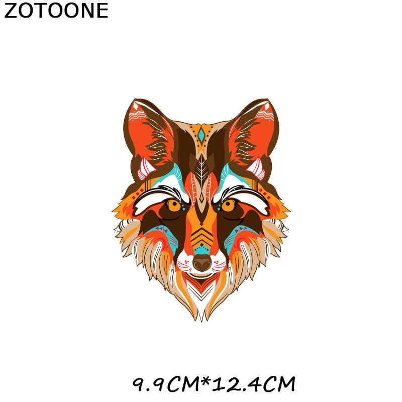 Zotoone Vos Panda Patches Ijzer Op Kleurrijke Hond Aniaml Stickers Voor Kleding Heat Transfers Diy Patch Voor Kinderen Vinyl Applicaties H