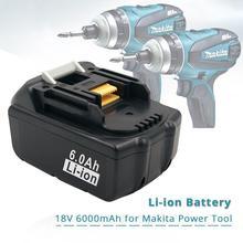 6000mAh bateria litowo jonowa wielokrotnego ładowania zamiennik do makita 18V BL1850 BL1840 BL1830 BL1850 LXT400 narzędzia akumulatorowe