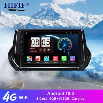 6 + 128G Carplay jednostka główna 2 Din Radio samochodowe dsp dla Peugeot 2008 208 2019 #8211 2020 jednostka nawigacji GPS jednostka główna Android 10 WIFI FM BT 5 0 tanie i dobre opinie HIFIF CN (pochodzenie) podwójne złącze DIN 4*45W JPEG 1280*720 1 8kg bluetooth Wbudowany GPs Odtwarzacze mp3 Tuner radiowy