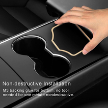 Car Engine Start Card Auto Key Position Trim Frame Holder Retainer Stop Stopper Sticker Decoration Accessories For Tesla Model 3