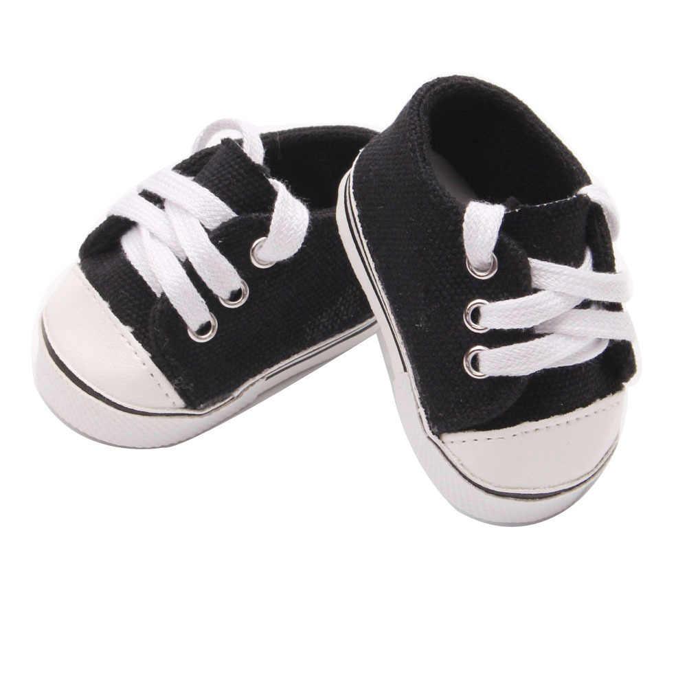 7cm puppe schuhe für 43cm geboren baby Puppe Schuhe sneackers fit Für 18 zoll Puppe schuhe Spielzeug Stiefel puppe Zubehör