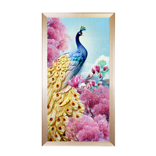 Youran 5d diy Diamond Embroidery Gold Peacock Scenic Mosaic Pattern Full Sqaure / Round Drill Painting Animal Home Decor