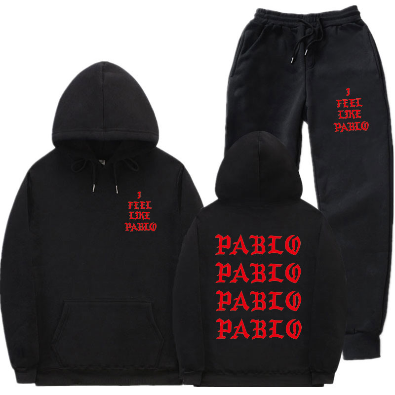 Fashion New Men's Sportswear Suit I Feel Like Paul Pablo Kanye West Men's And Women's Hoodie Hip Hop Streetwear Two-piece Suit