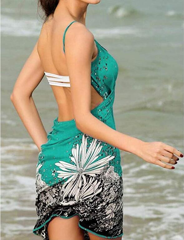 Verano Pareos de playa vestido Bikini cubierta Sarong envoltura de playa traje de baño cubierta Ups Praia cubierta de playa Mujer traje de baño Chanclas transpirables de verano para hombre, chanclas Boca de pescado para la playa, chanclas para hombre, sandalias ligeras de color blanco hueso, Yeez de talla grande 35-46