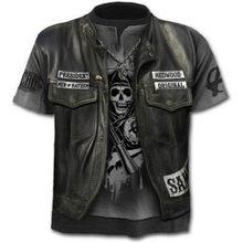 Men's Women's Cotton T-shirt 3D Skull Print Short Sleeve Shirt Fake Jacket Style Summer Season Fashion New 2021