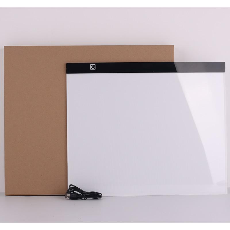 A3 usb led luz almofada artcraft rastreamento caixa de luz placa cópia digital tablet pintura desenho tablet pintura diamante placa
