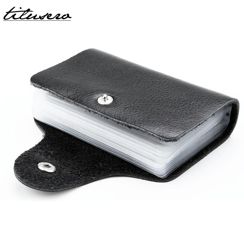 24 Holders PU Leather Card Holder Card Case Business Men Women Credit Passport Card Bag ID Passport Card Wallet F065