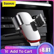 Baseus自動車電話ホルダー用のベント/cdスロットマウント電話ホルダーiphoneサムスン金属重力携帯電話ホルダー