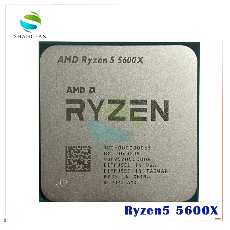 AMD Ryzen 5 5600X R5 5600X 3.7 GHz Six-Core twelve-Thread 65W CPU Processor L3=32M 100-000000065 Socket AM4 no fan