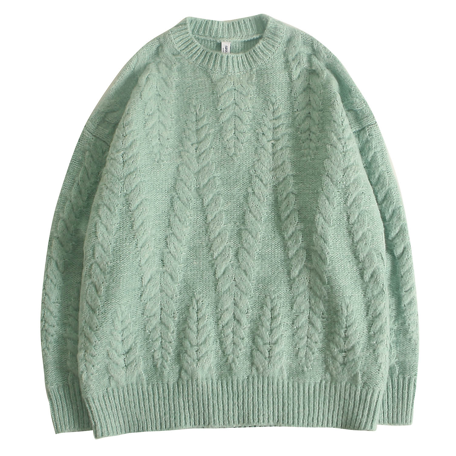 Men's Sweater Chunky Knitted Jumpers Cashmere Pullover Long Sleeve Tops Retro For Young Boys Outdoor Solid Color Autumn Winter