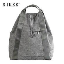 S.IKRR Women Portable Travel Bag Waterproof Nylon Designers Big Luggage Bag Organizer Fold Duffle Backpack With Drawstring Tote