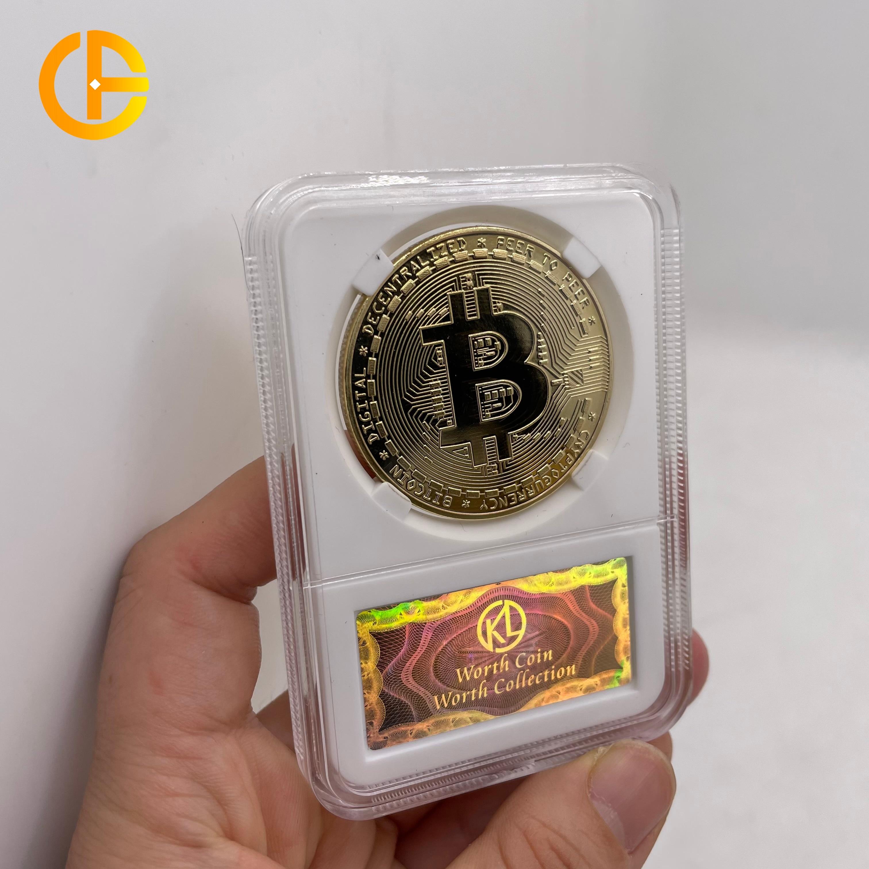 36 типов FLC Биткойн/дожкойн/ETH/Litecoin/приборной панели/пульсация/монеро/EOS Металл физическое серебро/золото Ada Cardano монета с акриловый чехол