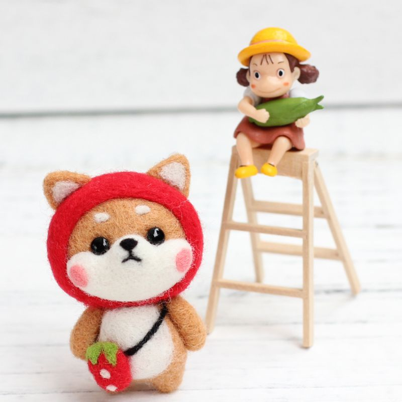 Doll Wool Felt Craft DIY Non Finished Poked Set Handcraft Kit For Needle Material Bag Pack M5TF