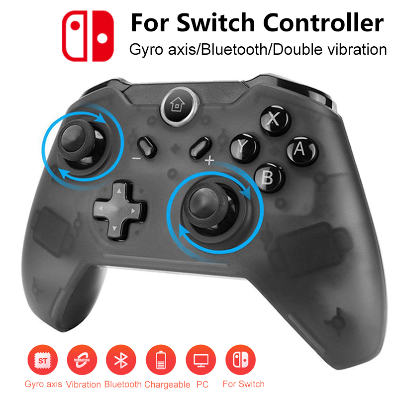 1pcs For Nintendo Switch Bluetooth Wireless Controller Double Vibration Gaming Joystick Gamepads For Game Controller Game Pad
