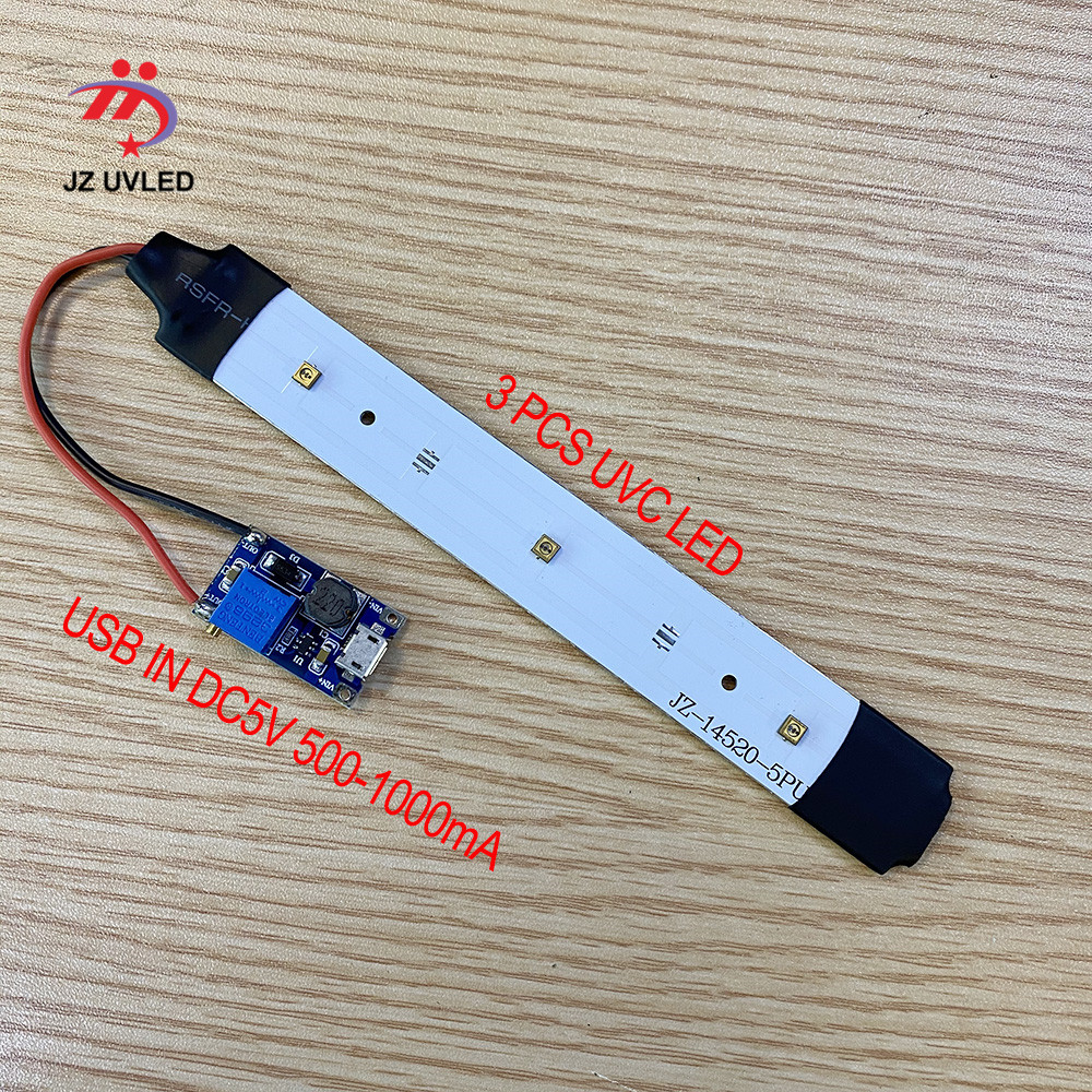 275nm UVC LED Module For DIY UVC Disinfection Lamps With USB Power Supply Board Deep UVC LED Violet Light Sterilization 285nm