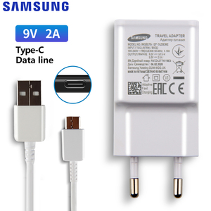 Image 2 - סמסונג המקורי 5V/2A 9V/2A טלפון מטען עבור סמסונג גלקסי S8 S9Plus הערה 9 8 a50 A7 S5Mini S4 S6 S7 סוג C מיקרו USB כבל
