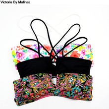 Women Swimwear Printing U Secxy Bikini TOPS Beachwear Tube Top Retro Bathing suits swimming wear for womens bikini up Secret(China)
