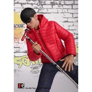 Image 4 - 1/6 skala Männlichen Kleidung Set FG040 Unten Jacken Mantel Kleidung Schuhe Anzug Schwarz/Gelb/Rot Fit 12 Zoll körper Action Figur