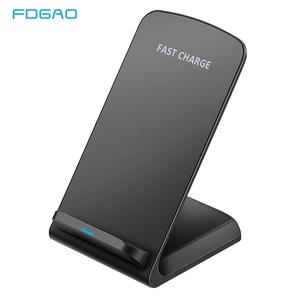 10W Qi Wireless Charger Fast Charging For iPhone 11 8 X XR XS Max Samsung Galaxy S8 S9 S10 Plus S10e Note 9 10 Stand Holder Base