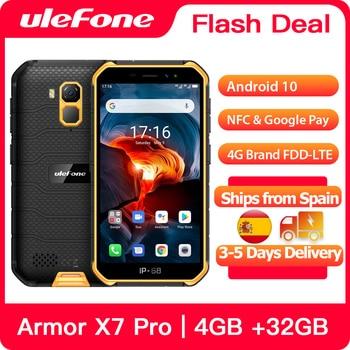 Перейти на Алиэкспресс и купить Ulefone Armor X7 Pro Прочный смартфон 4 ГБ ОЗУ Android 10 Мобильный Телефон IP68 четырехъядерный NFC 4G мобильный телефон водонепроницаемый