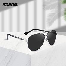 Мужские Солнцезащитные очки авиаторы kdeam зеркальные поляризационные