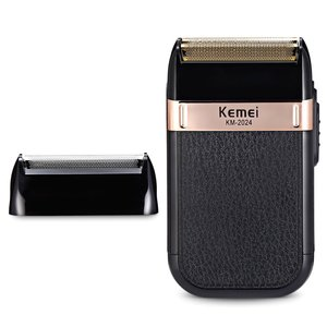 Kemei Electric Shaver Safety Razor Double Edge Classic Mens Shaving Rechargeable Electric Beard Trimmer Wet-Dry Dual Use Razor