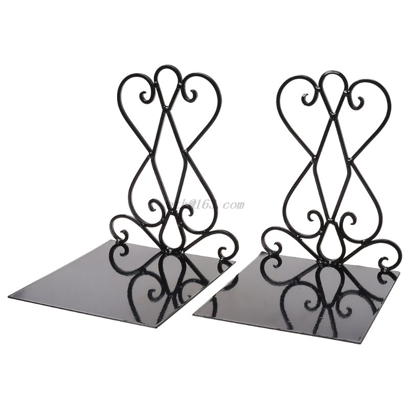 1 Pair Portable <font><b>Metal</b></font> Bookends <font><b>Book</b></font> <font><b>Stand</b></font> Holder Desktop Rack Shelf For Home Office Supplies image