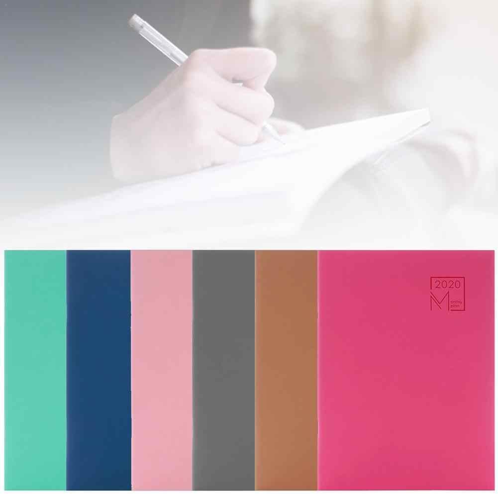 7,27X10 para MacBook diario de cuero libreta personal del programa planificador 12 mes planificador 24 hojas 2020 mensual planificador cubierta de cuero # X30