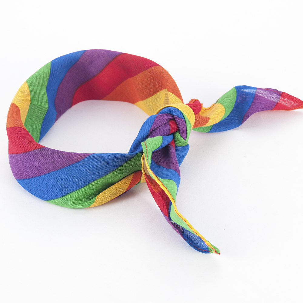 New Street Dance Battle Hot Fashion Headband Rainbow Headband Pride Face Mask Neck Scarf   Headwear   Hair Accessories