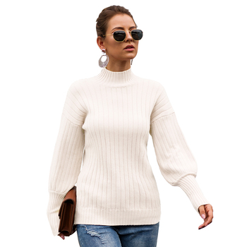 Turtleneck Sweater Women Fashion Autumn Winter Mock-turtleneck White Tops Women Knitted Pullovers Long Sleeve Jumper Pull Femme turtleneck husky turtleneck