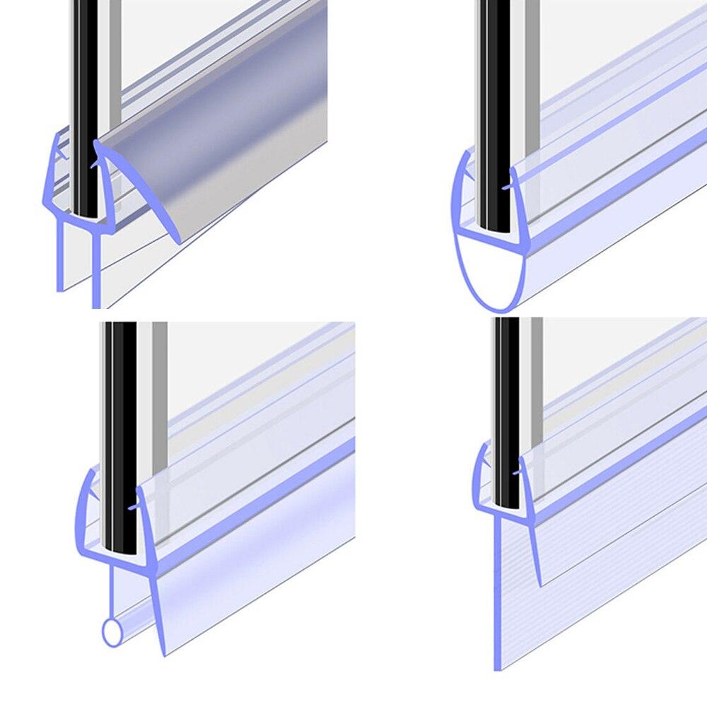 1 шт., уплотнительная лента для экрана ванны и душа, от 50 см до 12 мм