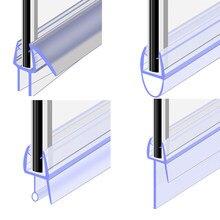 1 Uds. Tira de sello de puerta de pantalla de ducha de baño de 50cm 4 a 12mm, tira de ventana para puerta, burlete de ventana, accesorio de vidrio, herramientas diarias