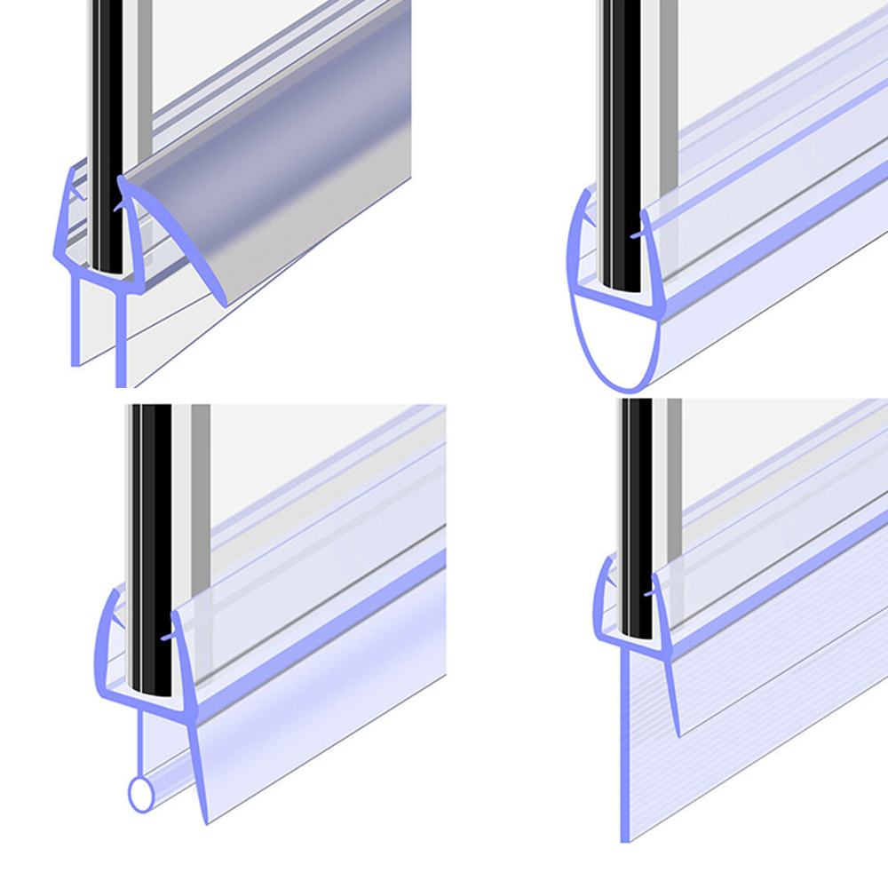 Tira de vedação da porta do chuveiro, 1 peça, tela de banho, tira de vedação de 50cm 4 para 12mm, janela, porta, tira de proteção ferramentas de fixação de vidro da janela