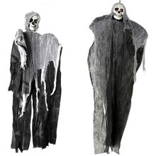 Halloween Cosplay Clothing Masquerade Adjustable Scream Ghost Skeleton Hanging Ghost Home Bar Decor(China)