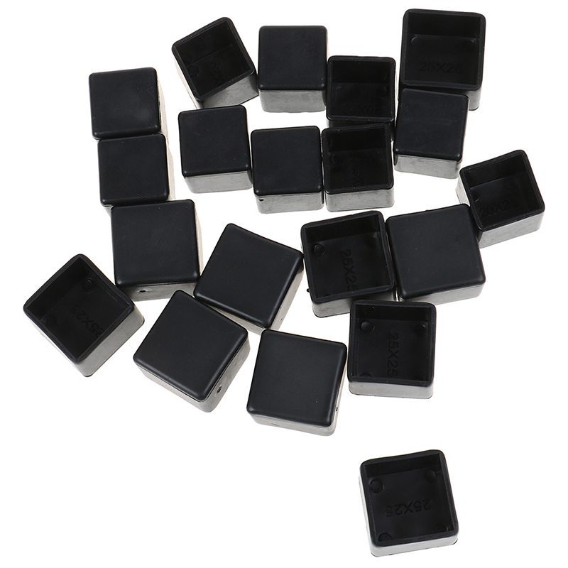 10pcs Square Silicone Chair Leg Caps Non-slip Table Foot Dust Cover Floor Protector Pads Furniture Leveling Feet 20mm 25mm