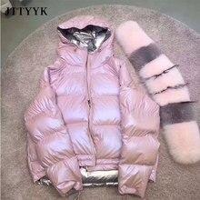 Jacket Parka-Coats Raccoon Real-Fur-Collar Female Women Puffer Autumn Winter Warm