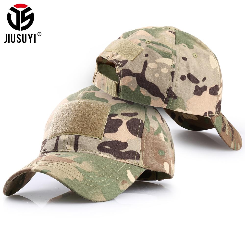 Men Ladies Cotton Baseball Cap Summer Outdoor Plain Camo Military Adjustable Hat