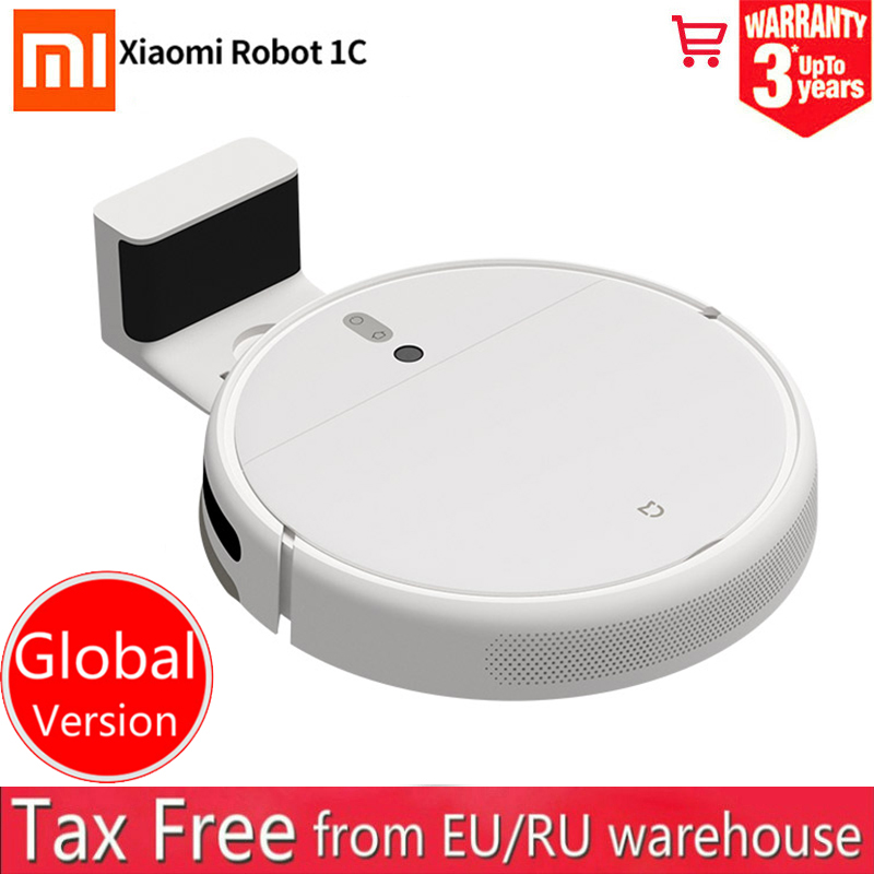 2020 Global version Xiaomi Mijia 1C mi robot Vacuum Cleaner sweeping mopping water tank wifi 2500PA Planned AI image navigation Vacuum Cleaners    - AliExpress