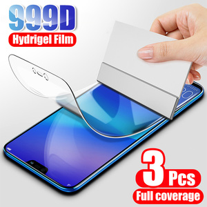 3Pcs Screen Protector Hydrogel Film For Huawei P20 P30 Lite Pro P40 P smart 2019 Protective Film For Honor 10 Lite 9 8X 9X Film